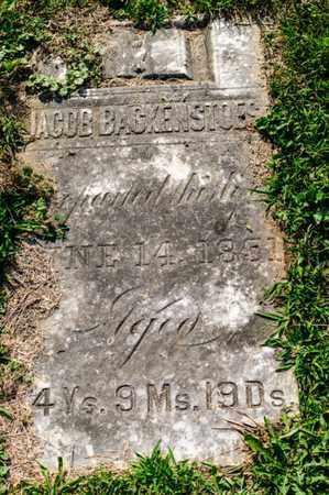 BACKENSTOES, JACOB - Richland County, Ohio   JACOB BACKENSTOES - Ohio Gravestone Photos