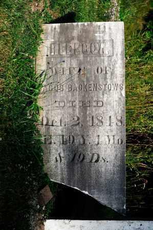 BACKENSTOWS, REBECCA - Richland County, Ohio   REBECCA BACKENSTOWS - Ohio Gravestone Photos