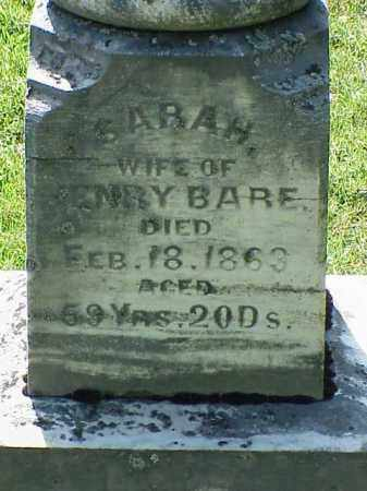 BARE, SARAH - Richland County, Ohio | SARAH BARE - Ohio Gravestone Photos