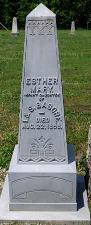 BASORE, ESTHER MARY - Richland County, Ohio | ESTHER MARY BASORE - Ohio Gravestone Photos