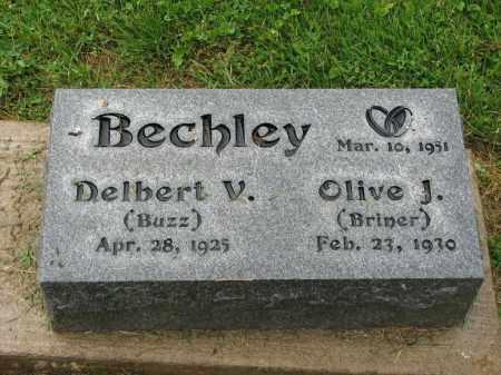 BECHLEY, DELBERT V. - Richland County, Ohio | DELBERT V. BECHLEY - Ohio Gravestone Photos