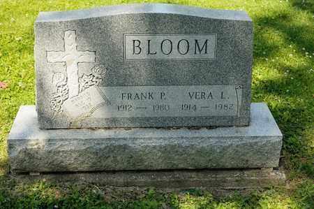 BLOOM, FRANK P - Richland County, Ohio | FRANK P BLOOM - Ohio Gravestone Photos