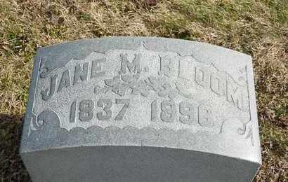 BLOOM, JANE M - Richland County, Ohio   JANE M BLOOM - Ohio Gravestone Photos