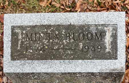 BLOOM, MINTA - Richland County, Ohio   MINTA BLOOM - Ohio Gravestone Photos