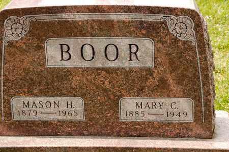 BOOR, MARY C - Richland County, Ohio | MARY C BOOR - Ohio Gravestone Photos