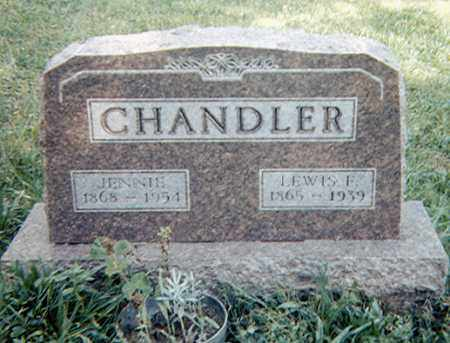 BAKER CHANDLER, JENNIE - Richland County, Ohio | JENNIE BAKER CHANDLER - Ohio Gravestone Photos