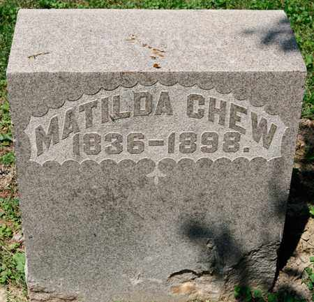 CHEW, MATILDA - Richland County, Ohio | MATILDA CHEW - Ohio Gravestone Photos