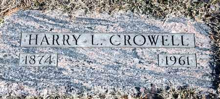 CROWELL, HARRY L - Richland County, Ohio | HARRY L CROWELL - Ohio Gravestone Photos