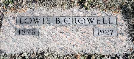 CROWELL, LOWIE B - Richland County, Ohio   LOWIE B CROWELL - Ohio Gravestone Photos