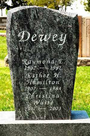 HAMILTON DEWEY, ESTHER H - Richland County, Ohio | ESTHER H HAMILTON DEWEY - Ohio Gravestone Photos