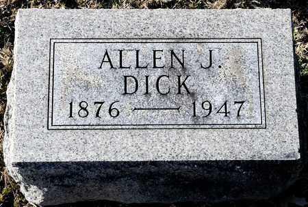 DICK, ALLEN J - Richland County, Ohio | ALLEN J DICK - Ohio Gravestone Photos