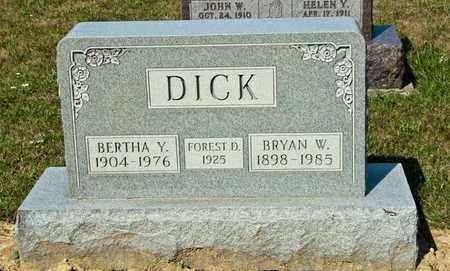 DICK, BERTHA Y - Richland County, Ohio | BERTHA Y DICK - Ohio Gravestone Photos