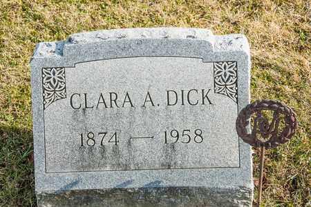 DICK, CLARA A - Richland County, Ohio | CLARA A DICK - Ohio Gravestone Photos