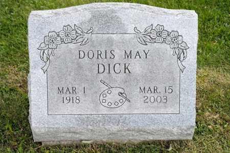 DICK, DORIS MAY - Richland County, Ohio | DORIS MAY DICK - Ohio Gravestone Photos