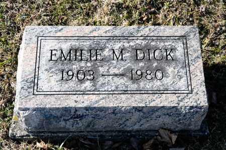 DICK, EMILIE M - Richland County, Ohio | EMILIE M DICK - Ohio Gravestone Photos