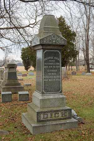 DICK, GEORGE - Richland County, Ohio | GEORGE DICK - Ohio Gravestone Photos