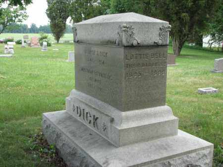 DICK, LOTTIE BELL - Richland County, Ohio | LOTTIE BELL DICK - Ohio Gravestone Photos