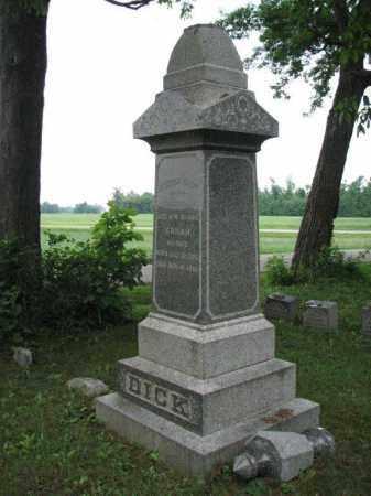 DICK, SARAH - Richland County, Ohio | SARAH DICK - Ohio Gravestone Photos