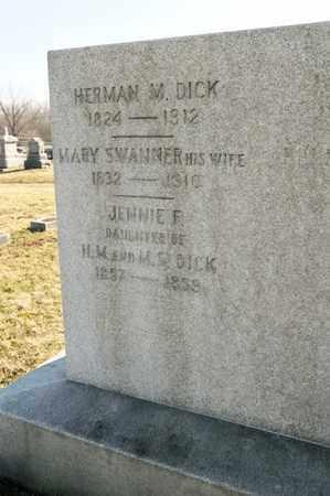 DICK, JENNIE F - Richland County, Ohio | JENNIE F DICK - Ohio Gravestone Photos