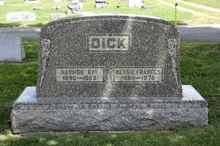 DICK, NESSIE FRANCES - Richland County, Ohio | NESSIE FRANCES DICK - Ohio Gravestone Photos