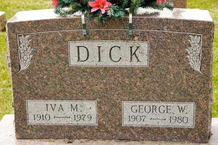 DICK, IVA M - Richland County, Ohio   IVA M DICK - Ohio Gravestone Photos