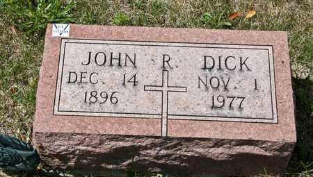 DICK, JOHN R - Richland County, Ohio | JOHN R DICK - Ohio Gravestone Photos