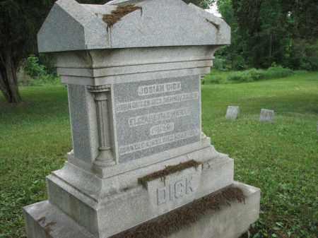 DICK, JOSIAH - Richland County, Ohio | JOSIAH DICK - Ohio Gravestone Photos