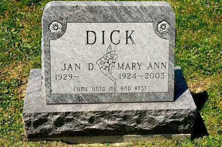 DICK, MARY ANN - Richland County, Ohio | MARY ANN DICK - Ohio Gravestone Photos