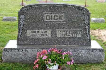 DICK, OREN IVAN - Richland County, Ohio | OREN IVAN DICK - Ohio Gravestone Photos