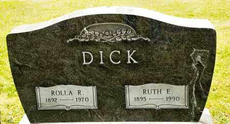 DICK, ROLLA R - Richland County, Ohio   ROLLA R DICK - Ohio Gravestone Photos