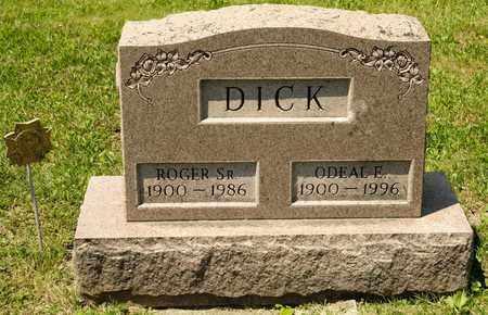DICK, ODEAL E - Richland County, Ohio   ODEAL E DICK - Ohio Gravestone Photos