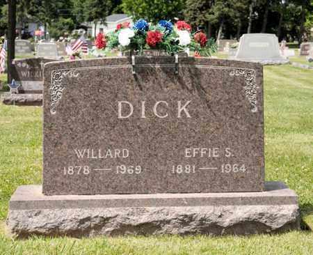 DICK, EFFIE S - Richland County, Ohio | EFFIE S DICK - Ohio Gravestone Photos