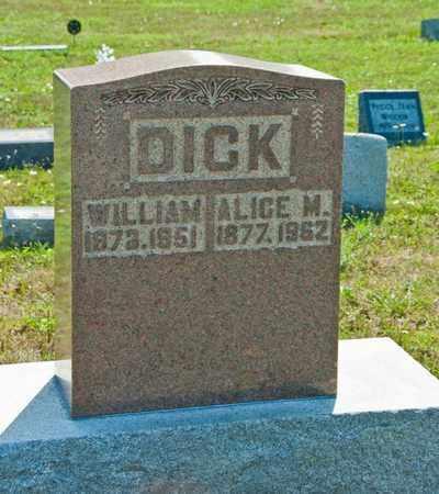 DICK, ALICE M - Richland County, Ohio | ALICE M DICK - Ohio Gravestone Photos