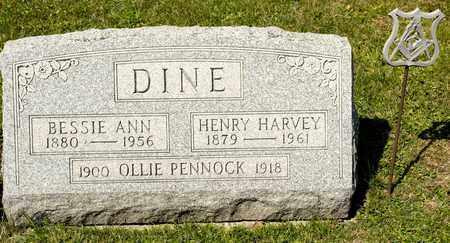 DINE, BESSIE ANN - Richland County, Ohio | BESSIE ANN DINE - Ohio Gravestone Photos