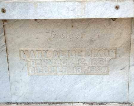 DIXON, MARY ALICE - Richland County, Ohio | MARY ALICE DIXON - Ohio Gravestone Photos