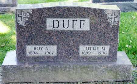 DUFF, ROY A - Richland County, Ohio   ROY A DUFF - Ohio Gravestone Photos