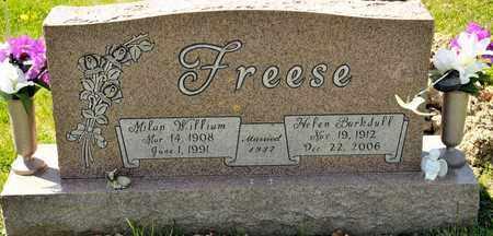 FREESE, MILAN WILLIAM - Richland County, Ohio   MILAN WILLIAM FREESE - Ohio Gravestone Photos
