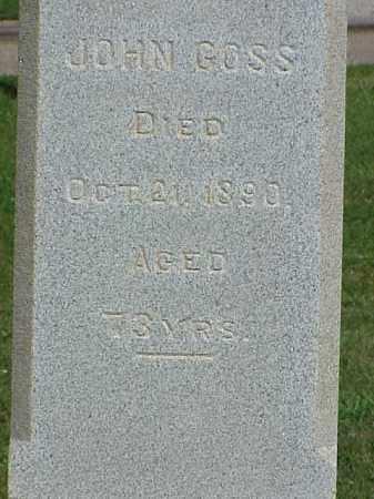 GOSS, JOHN - Richland County, Ohio   JOHN GOSS - Ohio Gravestone Photos