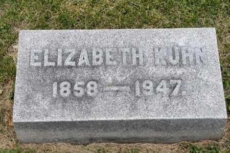 KUHN, ELIZABETH - Richland County, Ohio | ELIZABETH KUHN - Ohio Gravestone Photos