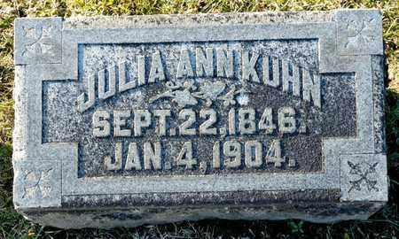 KUHN, JULIA ANN - Richland County, Ohio | JULIA ANN KUHN - Ohio Gravestone Photos