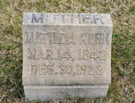 KUHN, MATILDA - Richland County, Ohio | MATILDA KUHN - Ohio Gravestone Photos