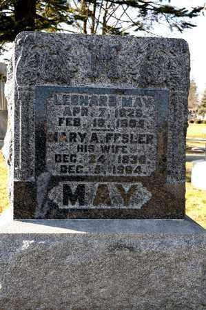 FESLER MAY, MARY A - Richland County, Ohio | MARY A FESLER MAY - Ohio Gravestone Photos