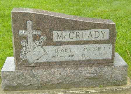 MCCREADY, LLOYD F. - Richland County, Ohio | LLOYD F. MCCREADY - Ohio Gravestone Photos