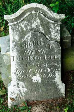 PIFER, SHARLOTT - Richland County, Ohio | SHARLOTT PIFER - Ohio Gravestone Photos