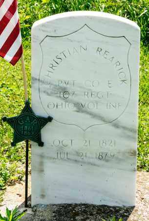 REARICK, CHRISTIAN - Richland County, Ohio | CHRISTIAN REARICK - Ohio Gravestone Photos