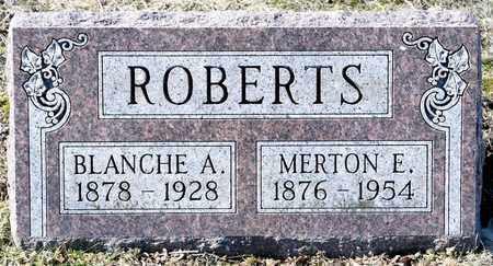 ROBERTS, MERTON E - Richland County, Ohio | MERTON E ROBERTS - Ohio Gravestone Photos