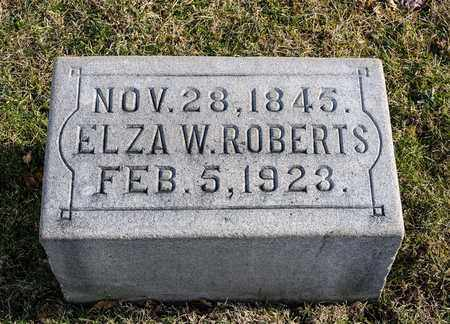 ROBERTS, ELZA W - Richland County, Ohio   ELZA W ROBERTS - Ohio Gravestone Photos