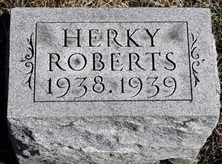 ROBERTS, HERKY - Richland County, Ohio | HERKY ROBERTS - Ohio Gravestone Photos