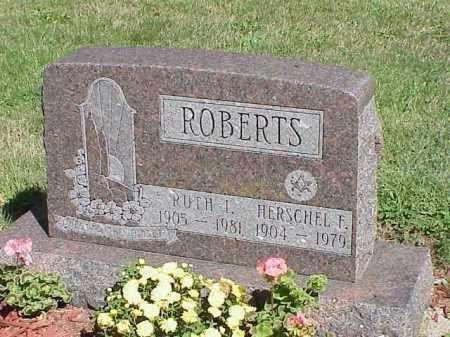 ROBERTS, HERSCHEL F. - Richland County, Ohio | HERSCHEL F. ROBERTS - Ohio Gravestone Photos