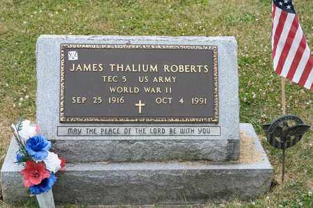 ROBERTS, JAMES THALIUM - Richland County, Ohio | JAMES THALIUM ROBERTS - Ohio Gravestone Photos